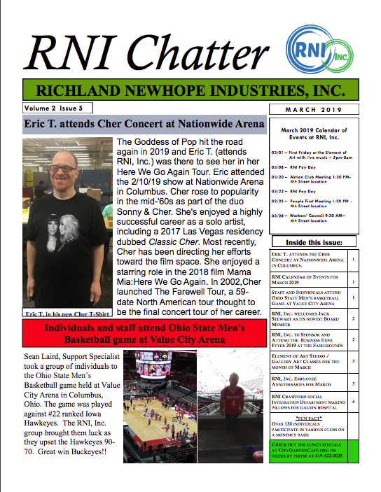 RNI Chatter: March 2019 Edition